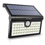 Zanflare 42 LED Luci per Sensori di Movimento a Lampade Energia Solare da Esterno, Applique da Parete a Energia Solare con Pieghevole Sensore Movimento , Luce Esterna Impermeabile Senza Fili per Giardino, Recinzione, Patio, Cortile, Strada Privata, Scale, Parete Esterna