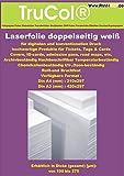 Doppelseitig 10x DIN A3 weiße beidseitige REIßFESTE schmutzabweisende chemikalienbeständige UV- und ozon beständige Farblaser - Laserdrucker + Kopierer Folie Präsentationsfolie 100my DuraCopy