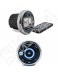Caliber MRM641BT Marine Radio USB / AUX / BT - MW / UKW-Tuner + MRC300 kabelgestützte Marine Fernbedienung wasserfest