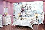 Fototapete Disney Die Eiskönigin Frozen Elsa Anna Vlies-Tapete für Kinder-Zimmer (416 x 290cm - 4-teilig)
