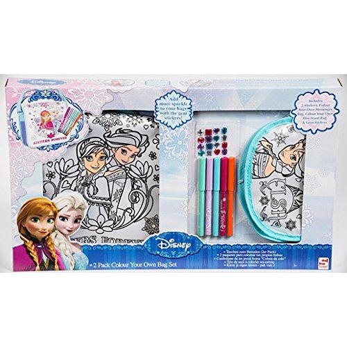 Disney Frozen Lot de 2 sac à colorier pour enfant Thème Reine des neiges