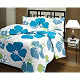 Renown Beautiful Blue Floral Design Reversible Double Bed Quilt / AC Blanket / Dohar ( Pack Of 1 Pc )