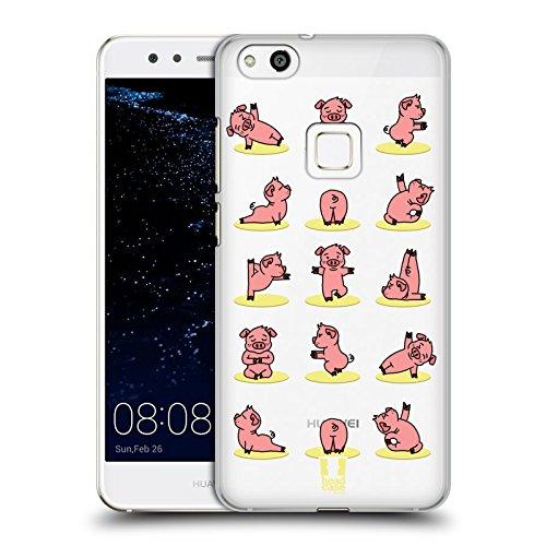 Head Case Designs Schwein Yoga Tiere Ruckseite Hülle für Huawei P10 Lite