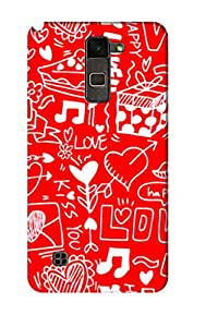 AMAN Music Of Love 3D Back Cover for LG Stylus 2