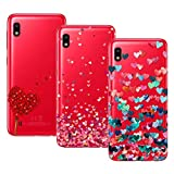 Young & Ming Cover Galaxy A10, (3 Pack) Morbido Trasparente Silicone Custodie Protettivo TPU Gel Case, Amore
