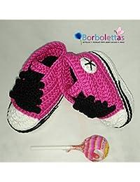 Zapatillas Deportivas para Bebé Estilo Converse, Amarillo y Negro, 0-3 meses