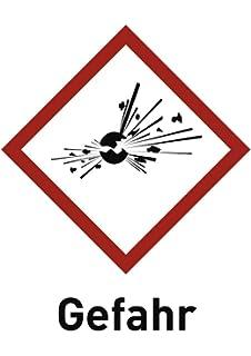 """Aufkleber Schild Warnzeichen EX /""""Warnung vor Explosionsfähiger Atmosphäre/"""" 10cm"""