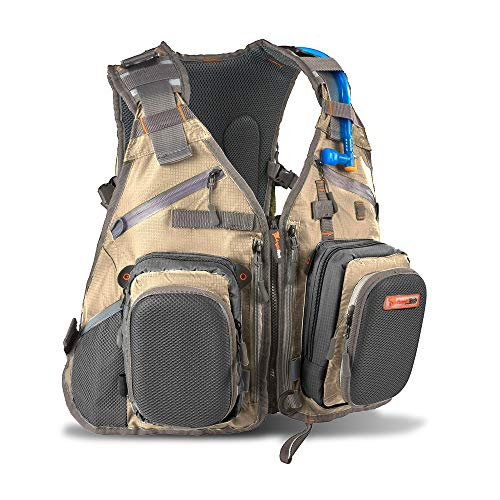 Anglatech Fly Fishing Backpack and Vest Combo with 1.5 Liter Hydration Water Bladder