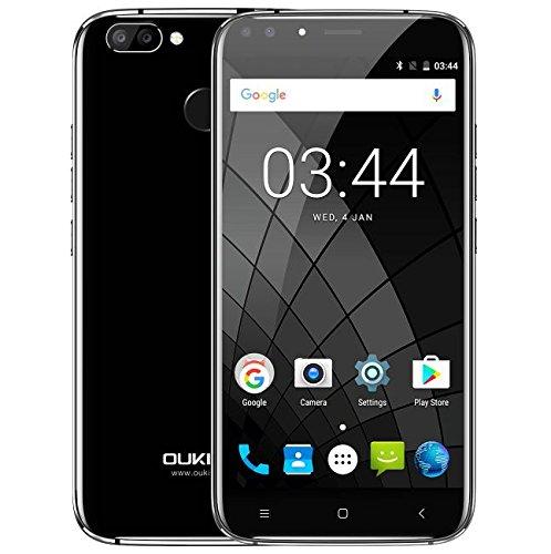 Oukitel U22-5.5 Zoll Android 7.0 3G Smartphone, Dual Front Kamera (2MP + 8MP) Dual Rückfahrkamera (2MP + 13MP), MTK6580A Quad Core 1.3GHz 2GB RAM 16GB ROM Fingerabdruck - Weiß