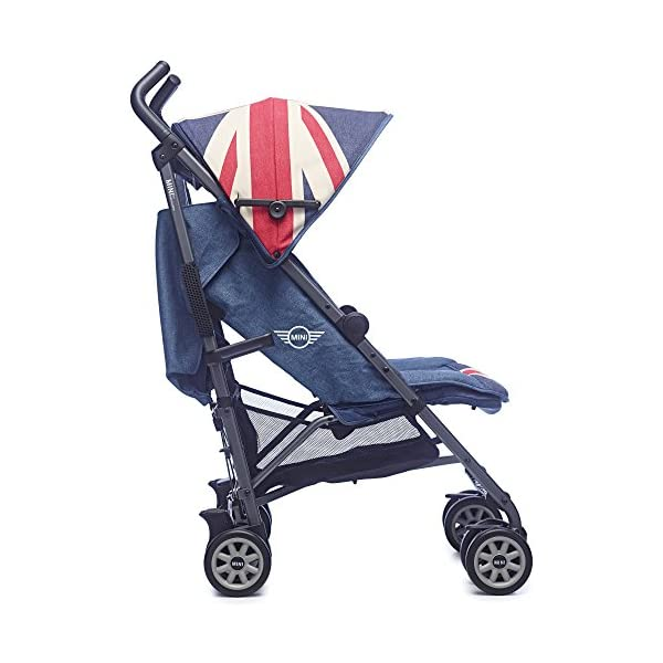 Easywalker Mini Vintage Union Jack Buggy  Suitable from birth 5 point 3 position harness Four recline positions with near flat recline 2