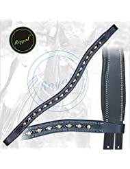 Royal Designer Transparent Brown, Black linked U-Shaped Crystal Brow Band.