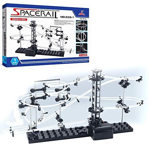 CX TECH Pacerail Marmor Achterbahn Perpetual Achterbahn Stufe 1 Marmor Achterbahn Run DIY Track Build Kit Raum Rail Track Brain Spiel -