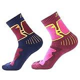 Merino Wool Thermal Socks - Womens Padded Wicking Hiking Crew Fleece Socks - Ladies Warm Cushioned Breathable Sports Outdoor Cashmere Sock For Walking Running Camping Climbing Trekking Backpacking - UK 4-7 EUR 35-39