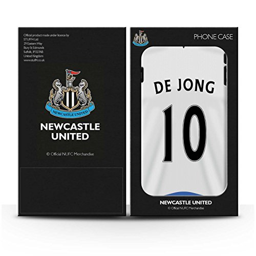 Officiel Newcastle United FC Coque / Brillant Robuste Antichoc Etui pour Apple iPhone 4/4S / Pack 29pcs Design / NUFC Maillot Domicile 15/16 Collection De Jong
