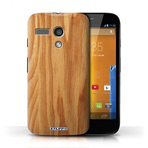 Hülle Case für Motorola MOTO G (2013) / Mahagoni Entwurf / Holz/Holzmaserung Muster Collection Eiche