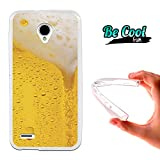 Becool® Fun - Funda Gel Flexible para Vodafone Smart Prime 6 .Carcasa TPU fabricada con la mejor Silicona, protege y se adapta a la perfección a tu Smartphone y con nuestro diseño exclusivo Cerveza rubia