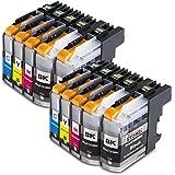 10x Druckerpatronen kompatibel für Brother LC-123 LC123 xl Brother DCP-J132W DCP-J150 Series DCP-J152W DCP-J152WR DCP-J172W DCP-J4110DW DCP-J4110W DCP-J552DW DCP-J752DW MFC-J245 MFC-J285DW MFC-J4310DW MFC-J4410DW MFC-J4510DW MFC-J461DW MFC-J470DW MFC-J470 Series MFC-J4710DW MFC-J475DW MFC-J650DW MFC-J6520DW MFC-J6720DW MFC-J6920DW MFC-J870DW MFC-J875DW MFC-J970DW