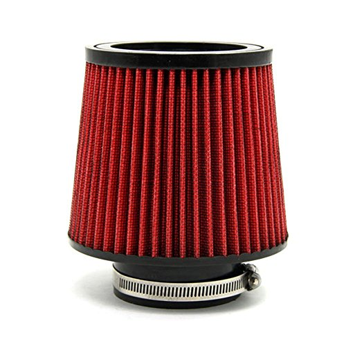 auto-cold-air-filter-inlet-cold-air-intake-filter-diameter-3pipe-round-tapered-pu-material-red-unive
