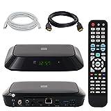 Android Satellitenreceiver ✨ HB-DIGITAL SET: Opticum Pyramid SAT-Receiver und Multimediaplayer (HDMI, AV, USB 2.0 & USB 3.0, microSD & CA Kartenslot für Pay-TV, RJ45 LAN, LNB in, SPDIF Coaxial, Mediaplayer, DVB-S2, Android 4.4.2, DVB-S/S2) + LAN Patchkabel + HDMI Kabel mit Ethernet Funktion und vergoldeten Anschlüssen