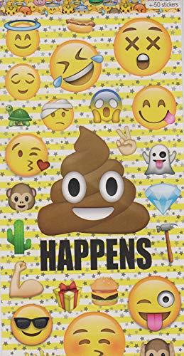 ticker Mega Mix 50 Stück Emojis Aufkleber/Sticker für Auto, Notebook, Laptop, Skateboard ()