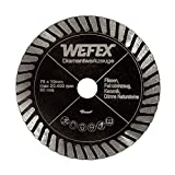 WEFEX Diamant-Trennscheibe Turbo-Fliese Panther 75 mm x 10 mm extra dünn 1,2 mm Feinsteinzeug Fliesen Granit Kacheln Keramik Naturstein passend für Bosch GWS 10,8-76 V-EC