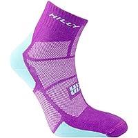 Hilly Women's Twin Skin Anklet Running Socks-Purple/Aquamarine, Small