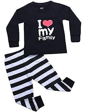 Aibrou Conjuntos pijamas Bebé Niñas Niños 100% algodón con Manga Larga Pantalones Largas
