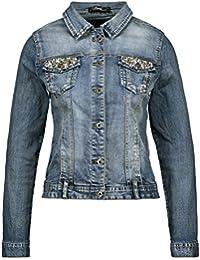 suchergebnis auf f r jeansjacke mit strass bekleidung. Black Bedroom Furniture Sets. Home Design Ideas