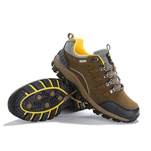 Hommes Chaussures de sport Entraînement Antidérapant Respirant Chaussures de course Chaussure de basket-ball Brown