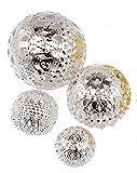 Metall Kugel Orient Gemischt (18 Stück), Silber