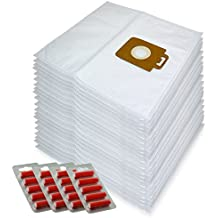 Spares2go gamuza de microfibra bolsas de polvo para Nilfisk Power P10P12P20P40aspiradora (lote de 20+ 20Ambientadores)