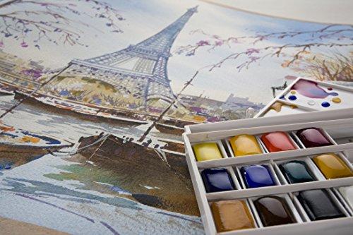 Zoom IMG-1 lefranc bourgeois acquerelli scatola da