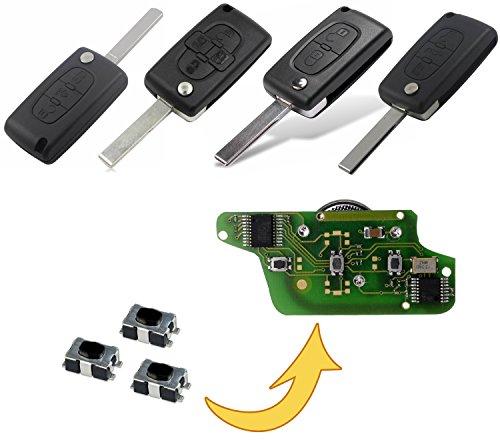 Micro-rupteur Bouton de commande de télécommande Micro SMD pour clé de voiture Citroen Peugeot MP08K
