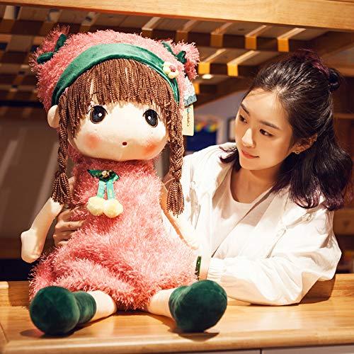 PANGDUDU Kreatives Mädchen Herz Plüschtier Puppe Kind Puppe Kissen Puppe Echtes Geschenk Kind Mädchen, Rosa, 60Cm