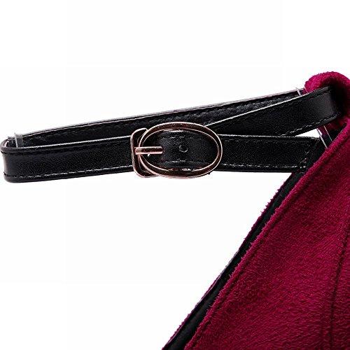 MissSaSa Donna Scarpe col Tacco Pumps Rosso scuro