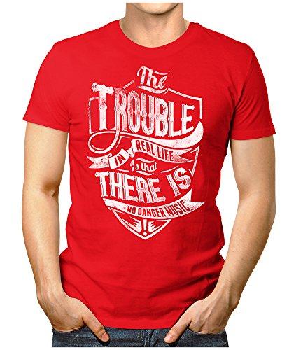 PRILANO Herren Fun T-Shirt - THE-TROUBLE - Small bis 5XL - NEU Rot