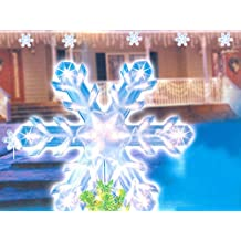"""15"""" Clear Lighted Twinkling Christmas Snowflake Tree Topper or Pathway Marker"""