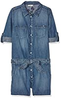 Pepe Jeans Girl's Journey Jumpsuit, Blue (Denim), 10 Years (Manufacturer size: 10)