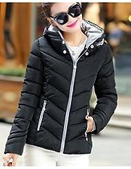 PU&PU Manteau Doudoune Femme simple Actif Sortie Couleur Pleine Rayé Imprimé-Coton Acrylique Autres Polypropylène Manches Longues