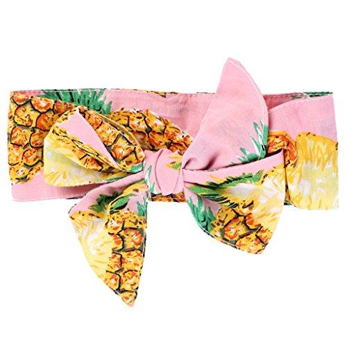 Gazechimp Baby Mädchen Stirnband Kopf Haarband Kleinkind Headwrap Knot Obst/Blumen Thema - Ananas, wie (Themen Requisiten)