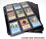 docsmagic.de 100 18-Pocket Pages Black - Toploading - 3-Ring Album Ordnerseiten - Magic: The Gathering - Pokemon - Yu-Gi-Oh! - Schwarz