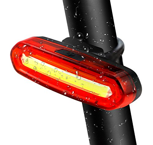 TedGem Luz Trasera para Bicicleta Recargable USB - LED Faro Trasero Bici...