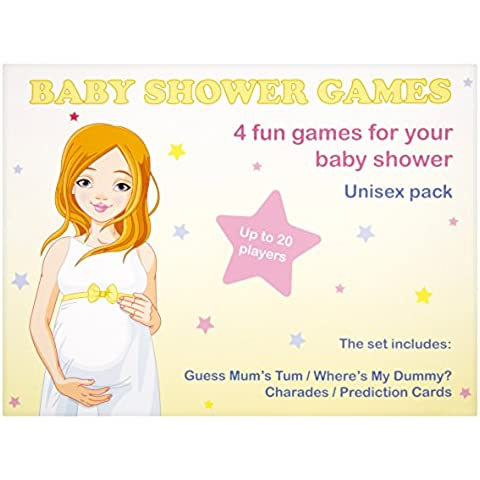 Baby Shower juegos, 4unidades (Unisex–20jugadores)