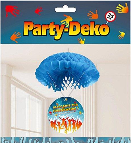 Feste Feiern zur Jugendweihe I Dekorativer Deckenhänger als Fallschirm Alles Gute zur Jugendweihe - Endlich Erwachsen! I Party Splash Dekoration