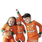 SEWORLD Baby Halloween Kleidung,Niedlich Kleinkind Baby Jungen Mädchen Kürbis Teufel T-Shirt Tops + Hosen Halloween Outfits Set 6 Jahren
