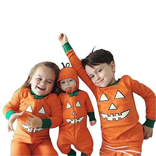 SEWORLD Baby Halloween Kleidung,Niedlich Kleinkind Baby Jungen Mädchen Kürbis Teufel T-Shirt Tops + Hosen Halloween Outfits Set 18 Monate