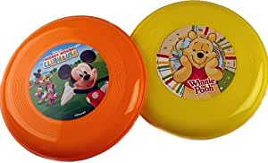 Set Of 2 Disney Summer Frisbee Toy - Winnie The Pooh And Mickey Mouse