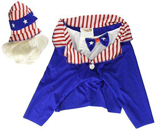Hundekostüm Sam, Rot/Blau/Weiß, Onkel Sam, Hund, Kostüm, Large, Rot/Blau/Weiß