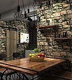 Yirenfeng 3D Stereo Ziegel Wand Tapete Nachahmung Marmor Wohnzimmer Hintergrund Wand Antike Tapete A