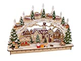Riffelmacher Schwibbogen Winterland, aus Holz mit 15 LED, circa 45 x 32 cm 76348